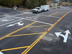 Road Striping - South Jordan Development