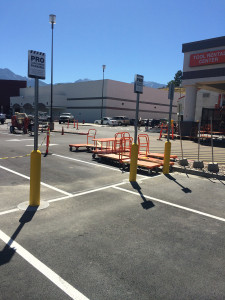 Traffic Signs - Home Depot PRO Parking signs in Bollards